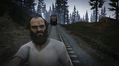 GTA V Selfie Trevor takes the train