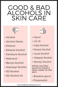 alcohol in skin care