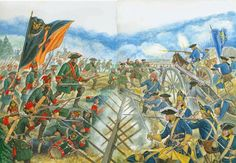Combat between Russian and Swedish infantry, Great Northern War