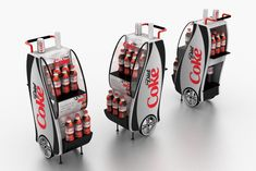 Retail Point of Purchase Design | POP Design | Alcohol & Soft Drinks POP | COCA COLA POP by Mauricio Gonzalez Abril at Coroflot