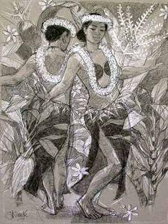 Cook Islands Dance Art Prints by Judith Kunzle Polynesian Dance, Polynesian Culture, Tahitian Dance, Island Tattoo, Island Theme, Dance Paintings, Exotic Dance, Hawaiian Art, Island Girl
