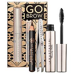 Anastasia Beverly Hills - Go Brow Kit   #sephora  - havnt used tweezers yet. - brow pencil is a good color match, when used with light fast strokes. - clear wax doesnt flake after drying. keeps shape all day (after drying)