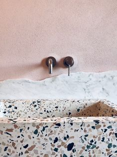 Pink bathroom wall and floor tiles from the TERRAZZO Marble 5 collection by Mosa … – Marble Bathroom Dreams Home Decor Styles, Cheap Home Decor, Home Decor Accessories, Decorative Accessories, Home Interior, Bathroom Interior, Interior Design Trends, Interior Colors, Mini Bad