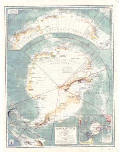 The first Australian map of the entire Antarctic continent first published in 1939.