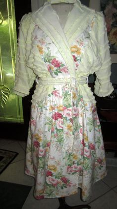 Item 24 / Chintz is Back in Bloom / Chenille Glamour Girl Summer Bath Robe  /  Retro Vintage Inspired Custom Handmade by bonnilanese on Etsy https://www.etsy.com/listing/116170945/item-24-chintz-is-back-in-bloom-chenille