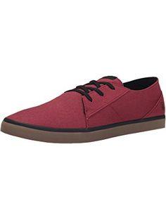 Volcom Men's Lo FI Fashion Sneaker, Burgundy, 9.5 C/D US ❤ Volcom Footwear Mens