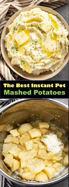 Mar 2019 - Delicious and healthy family choice special food and drink Instant Pot Mashed Potatoes Instant Pot Mashed Potatoes are rich and creamy an. Crock Pot Recipes, Breakfast Crockpot Recipes, Crock Pots, Easy Delicious Recipes, Easy Healthy Recipes, Easy Meals, Best Instant Pot Recipe, Instant Pot Dinner Recipes, Instant Recipes