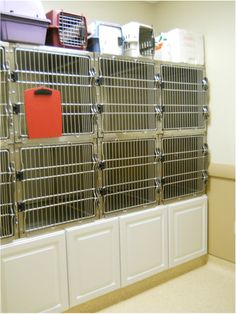 Cages OVER the storage for the emergency unit