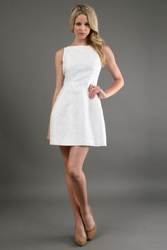 Fit and Flare Dress in White - Lyst