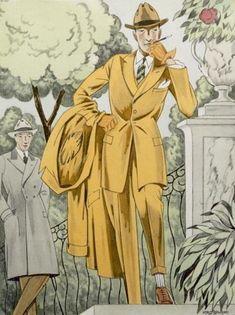 Dandy in a park, 1922. Det var väl då ungefär herrkläderna började bli lite intressanta igen.
