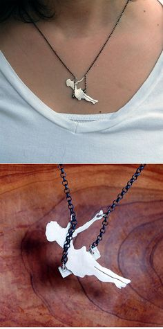 Handmade swinging necklace! Great reminder not to take life too seriously ;) I would live to have that in gold!