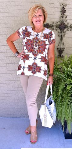 50 IS NOT OLD | Summer Outfit | Medallion | Fashion over 40 for the everyday woman.