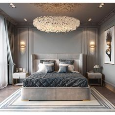 Nightstands, beds, side tables, cabinets or armchairs are some of the luxury bedroom furniture tips that you can find. Every detail matters when we are decorating our master bedroom, right? Luxury Bedroom Furniture, Luxury Bedroom Design, Bedroom Bed Design, Home Bedroom, Modern Bedroom, Decor Interior Design, Bedroom Decor, Master Bedroom, Bedroom Carpet