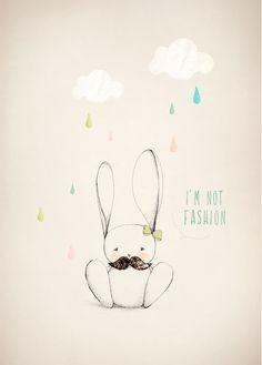 Affiche Illustration Lapin de Aline Caron #affiche_enfant
