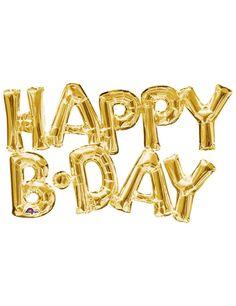 Ballon aluminium lettres Happy Birthday doré  et un choix immense de décorations…