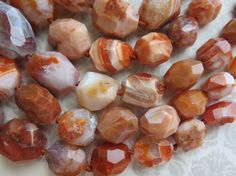 Carnelian Beads Jumbo Red Agate Graduated by SimplyAnnabella