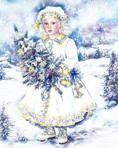 christine haworth art   Confecciona tú misma, las tarjetas de saludos de Navidad