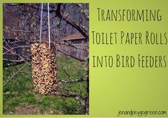 Transforming Toilet Paper Rolls Into Bird Feeders by @JnJGoGreen