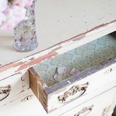 shabby chic dresser drawer liners