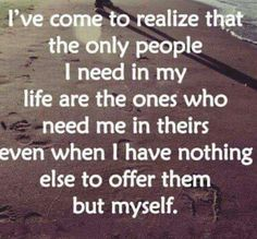 Give myself even if it is all I hsve