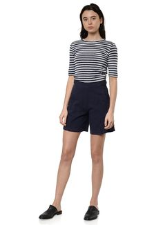 You Must Create - Charlotte S/S Tee in Navy and Ice – gravitypope Acne Studios, Bermuda Shorts, Tees, Shirts, Short Dresses, Charlotte, This Or That Questions, Customer Service, Fitness