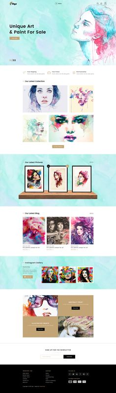 Dye – MultiPurpose Creative Art & Photography PSD Template #photo exhibition #photo gallery #photography • Download ➝ https://themeforest.net/item/dye-multipurpose-creative-art-photography-psd-template/20522021?ref=pxcr