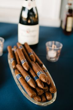 cigar bar at cocktail hour | Leigh Webber #wedding