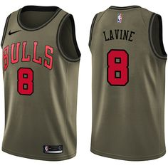 49146d8943b Nike Bulls  8 Zach LaVine Green Salute to Service NBA Swingman Jersey  Brooklyn Nets