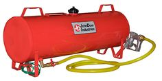 JohnDow Industries' Portable Fuel Station is designed to transport and use the force of gravity flow to dispense fuel into gasoline-powered portable equipment, vehicle fuel tanks, and other approved containers. Retail Packaging, Gas Station, Cool Tools, Motor Car, Firearms, Car, Cool Gadgets