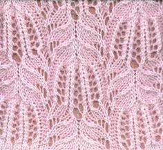 "Absolutely stunning MK Frost Flowers Lace Pattern from the book entitled ""A Treasury of Knitting Patterns"" by Barbara G. Walker."