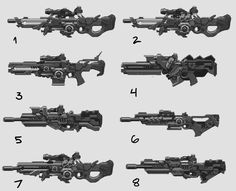 Railgun Sniper Rifle concepts