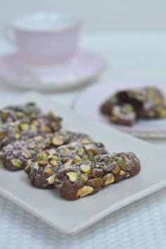 Serendipity Chocolate and Pistachio Cookies Italian Cookie Recipes, Italian Cookies, Best Dessert Recipes, Fun Desserts, Sweet Recipes, Delicious Desserts, Yummy Food, Quick Recipes, Yummy Recipes