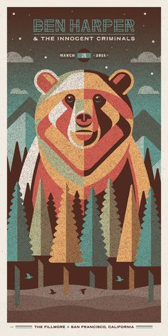Ben Harper & The Innocent Criminals Poster Series | #musicposter #design
