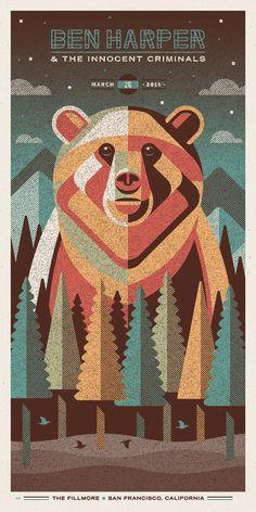 Ben Harper & The Innocent Criminals Poster Series | #musicposter #design