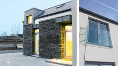 Designed as an evolution of the traditional form and located next to the main Sligo-Donegal road, the super insulated and triple glazed house minimises the noise pollution from the busy road in addition to its energy rating. House Designs Ireland, Noise Pollution, Architects, Minimalism, Traditional, House Exteriors, House Styles, Outdoor Decor, Home Decor