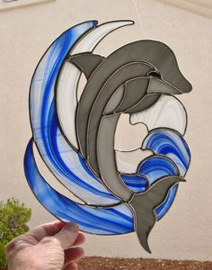 Stained Glass Dolphin by StainedGlassbyWalter on Etsy