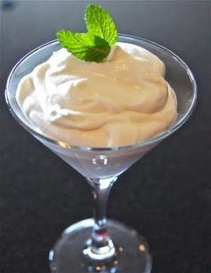 White chocolate mint mousse.