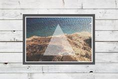 Follow the angles - A3 Travel Geometric Triangle Boho Navajo Aztec Tribal Southwestern Native Photography Typography Art Print via Etsy
