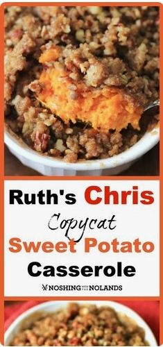 Have you had the pleasure to indulge at a Ruth's Chris Restaurant? I have and one of my favorite sides is this Ruth's Chris Copycat Sweet Potato Casserole recipes casserole 104849497561393515 Thanksgiving Recipes, Fall Recipes, Holiday Recipes, Christmas Recipes, Thanksgiving Table, Christmas Desserts, Best Sweet Potato Casserole, Sweet Potato Recipes, Ruth Chris Sweet Potato Casserole Recipe