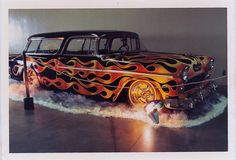 Check out this 1955 Chevrolet Nomad and other vintage rides like a 1952 Chevy and a 1967 Chevy. Chevrolet Nomad, Chevy Nomad, 1955 Chevrolet, Vintage Car Party, Vintage Cars, Retro Vintage, Lowrider, Pixar Cars Birthday, Chevy Van