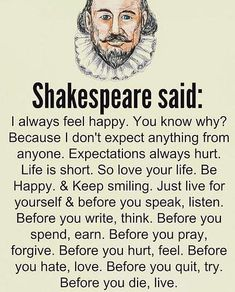 The wisdom of Shakespeare - wisdom quotes Wise Quotes, Great Quotes, Words Quotes, Motivational Quotes, Funny Quotes, Inspirational Quotes, Wisdom Sayings, Awesome Quotes, Deep Life Quotes