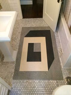 Unique, custom designed inlay linoleum and cork flooring  and rugs based in Los Angeles and San Francisco.
