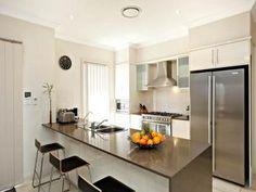 looks cold - is a bit too big. modern u-shaped kitchen design
