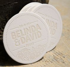 letterpress coaster - Google Search