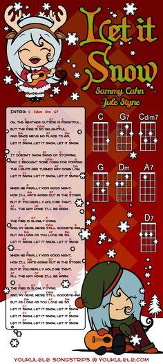 """Songstrip """"Let It Snow"""" per ukulele di Astriaha - Partecipa anche tu al video di Natale della YOUkulele Orchestra!"""
