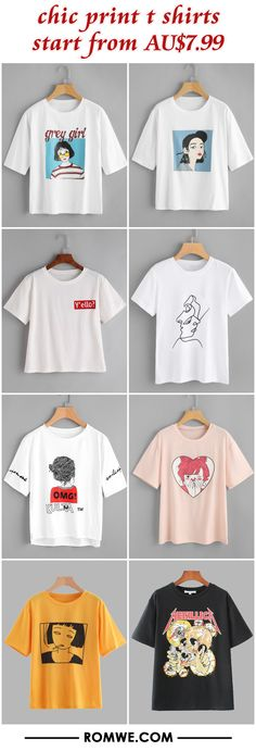 chic print t shirts from AU$7.99