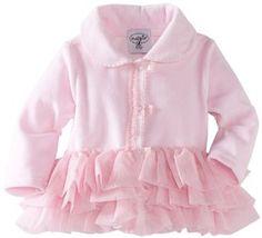 Mud Pie Baby Girls Newborn Velour Coat