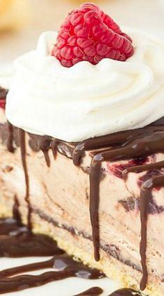Nutella and Raspberry Swirl Ice Cream Cake with Ice Cream Cone Crust