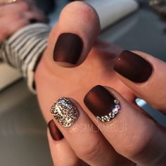 Maroon nails Matte nails Glitter nails Short nails Rhinestone nails Bling nails. Are you looking for fall nail matte colors design for this autumn? See our collection full of cute fall nail matte colors design ideas and get inspired!