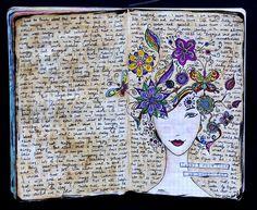 Art journal/ scrapbook/ journaling inspiration.